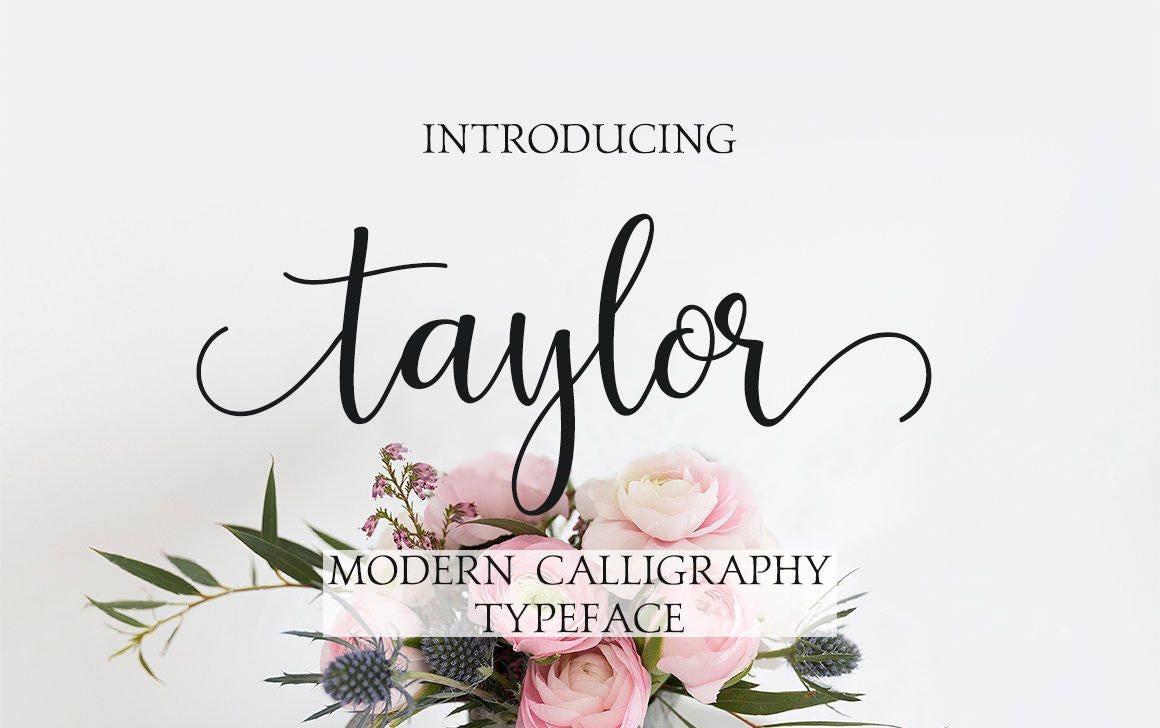Modern calligraphy font digital handwritten