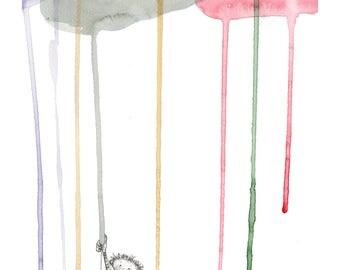Print clouds colours, children, chidren, colors, clouds, multicolor