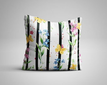Butterfly Stripes Cushion.