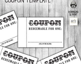 Coupon template | Etsy
