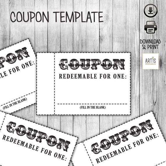 Coupon book coupon for game empty love coupon date diy for Coupon template for pages