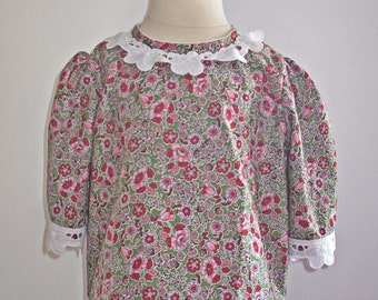 Blouse baby child lace cotton vintage retro flower blouse shirt top