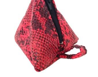 Triangular handle purse keychain