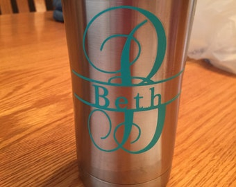 Monogram with Name Decal