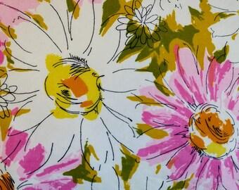 Vintage Abstract Floral Pillowcase - Retro, Kitschy, Feminine - Shipped Free!