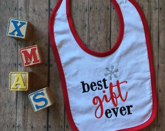 SALE! Best Gift Ever Christmas Bib