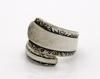 Spoon Ring - Size 4.5 - Hand Bent By The CrafsMan - Steady Craftin'