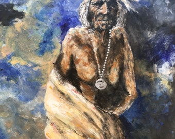 Old War Man, original painting