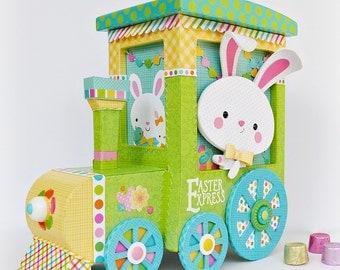 Easter Bunny, Easter Express, Easter Decor, Easter Centerpiece, Spring Decor
