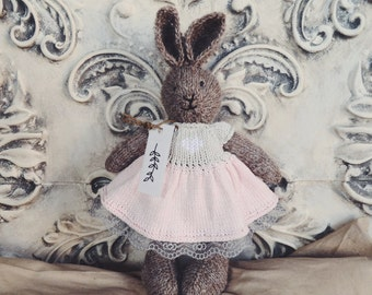 "Knitted rabbit ""Vintage princess"""