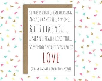 Awkward Valentines day card // Some people call it love //  Love card // Anniversary card // Husband Wife card // Boyfriend Girlfriend card