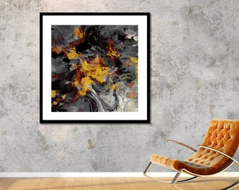Yellow Abstract Landscape Art, Canvas Prints of Creative Abstract Paintings, Modern Wall Decor, Modern Abstract Prints, Abstract Wall Art