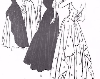 Vintage 1940's Sewing Pattern WWII WW2 Evening Halter Neck Dance Gown Dress Draped B 34""
