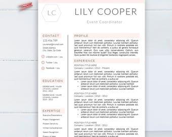 Creative resume template, CV template for Word, Professional resume,  resume design , Modern resume, Resume instant download