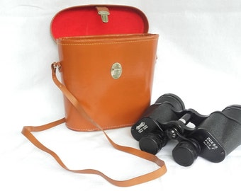 Antique 20 x 50 OFOTERT Binoculars in Leather Carrying Case