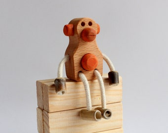 Monkey wooden and bamboo harvested locally with ecological oil finish
