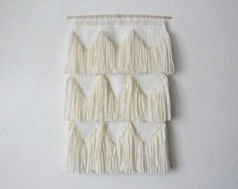 Cream Fringe Wall Hanging - Small