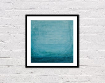 Watercolor Print, Watercolour Wall Art, Teal Abstract, Printable Painting, Minimalist Modern Art, Watercolor Art, Digital Download