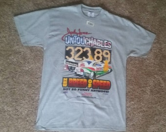 Vintage 1990s John Force Castrol Funny Car NHRA T Shirt