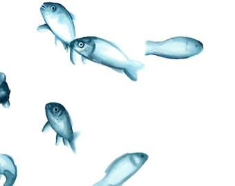 "Art drawing print illustration ""Aquarium"""