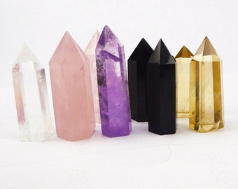 Clear Crystal Tower/Obsidian Tower/Rose Quartz Tower/Citrine Tower/Amethyst Tower/Fluorite Tower/Grid(Size:,40mm,50mm,60mm,70mm,80mm,100mm)