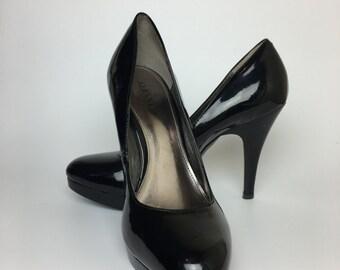 Black Patent Leather Stilettos