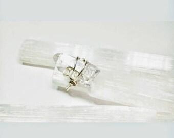 Clear Quartz Crystal point Ring