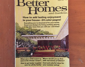 August 1966 Better Homes and Gardens magazine Mid-Modern design
