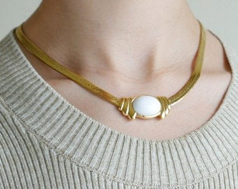 Gold Art-deco Necklace