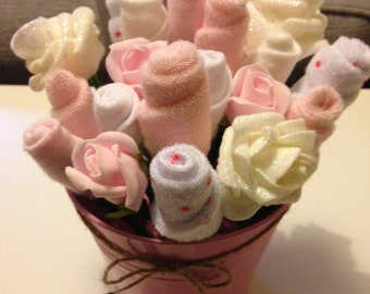 New Baby / Baby Shower Gift - Pink Baby Bundle Bouquet