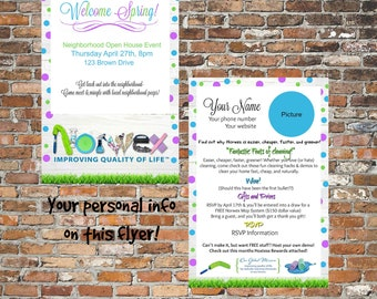 norwex open house flyeryour wordingyour informationlearn about norwex4x6 - Norwex Party Invitation