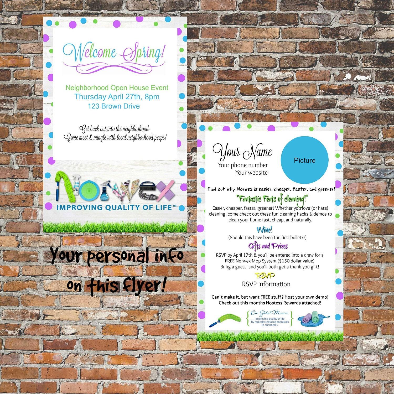 Norwex Open House FlyerYour wordingYour informationLearn