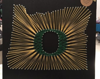 "Oregon ""O"" String Art"