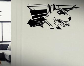 American Pitbull Terrier Amstaff - Dog Puppy wall vinyl decals stickers DIY Art Decor Bedroom