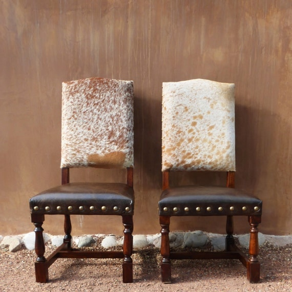 Colton Cowhide Chair Western Lodge Dining