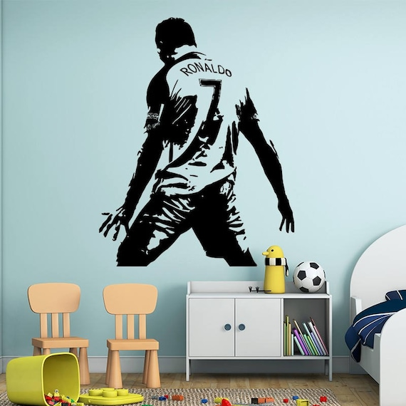 Cristiano Ronaldo Wall Decal - Real Madrid Wall Sticker -Soccer Decal - Kids Room Wall sticker - Home Decor - Gifts for Him - Man cave ideas