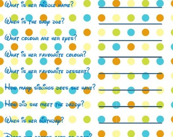 Who Knows Mummy Best Baby Shower Printable Game Blue