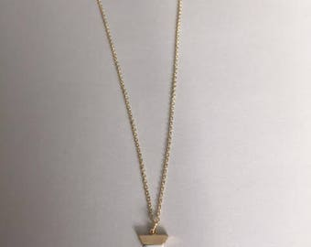 White marble trangle necklace