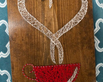 12 x 16'' Coffee Cup String Art