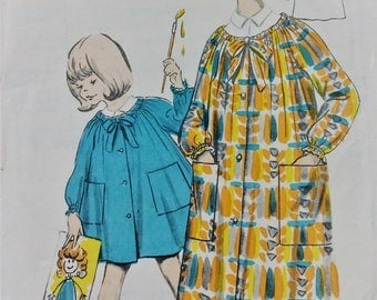 Vintage 1960's Weigel's sewing pattern 2366 - Artist's smock size 14