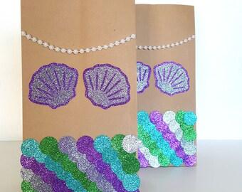 Mermaid Favor Bags/ Mermaid Party/ Mermaid Birthday/ Mermaid
