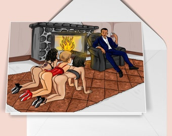 MAN IN CHARGE - Adult Greeting Card - Funny and Naughty