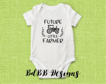 Future Little Farmer Baby Onesie / Future Farmer Onesie / Take Home Outfit / New Dad Gift / Baby Boy Clothes / Future Farmer Baby Onesie