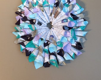 Page Wreath - book art