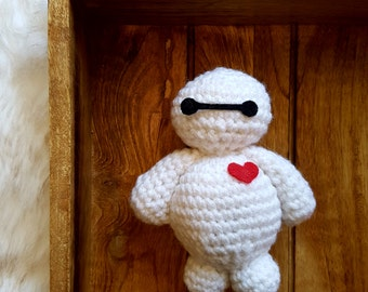 Crochet Baymax || Disney's Big Hero 6, Amigurumi, Crochet Toy, Plush Toy