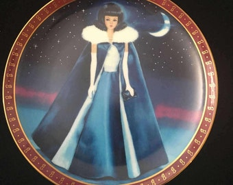 "Barbie 1965 ""Midnight Blue"" collectors plate"