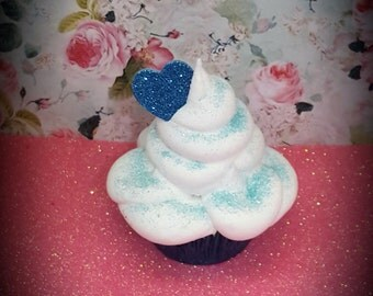 Whipped Marshmallow Fake Cupcake Valentine Photo Props for Boys, Party Decorations, Kitchen Displays