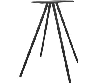 Low metal table legs / steel, effect pyramid, triangle, paw in a tipi