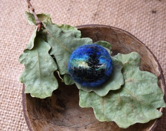 Felted brooch Aurora