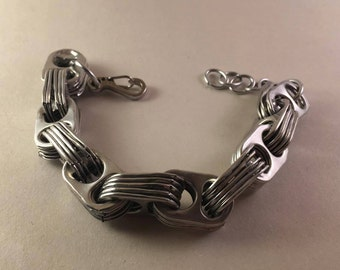 Recycled steam punk industrial ringpull bracelet